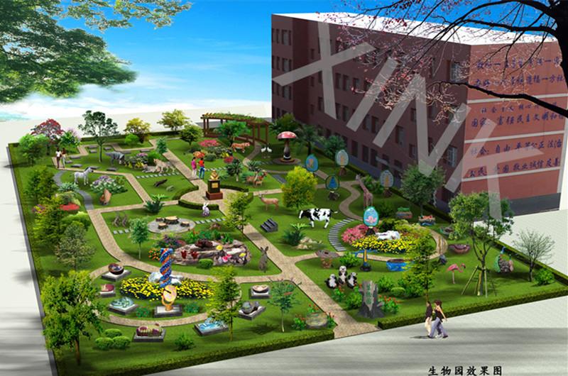 矩形庭院设计平面图